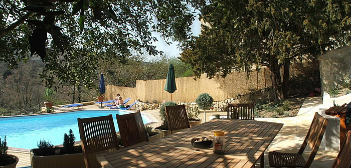 Private swimming pool in private garden Languedoc, France