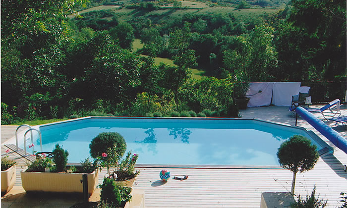 Swimming pool with a view, Languedoc, France